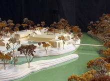 Maquette de présentation du site de Vessy | 1/500ème |Veyrier, 2017 | ÁRTER Architectes