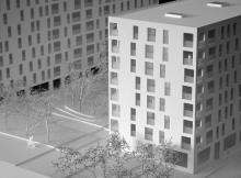 Concours |  Petit Lancy | 1/200ème | Petit Lancy, 2014 | CLR Architectes
