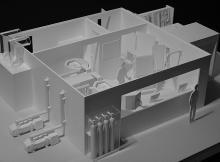 Maquette de présentation du procédé PVD | 1:20 | Genève, 2013 | Surcotec SA